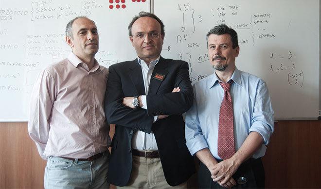 Da sinistra a destra, Parolo Merialdo, Carlo Alberto Pratesi e Augusto Coppola