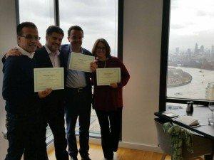 Stefano Tresca coi fondatori di StartupHome