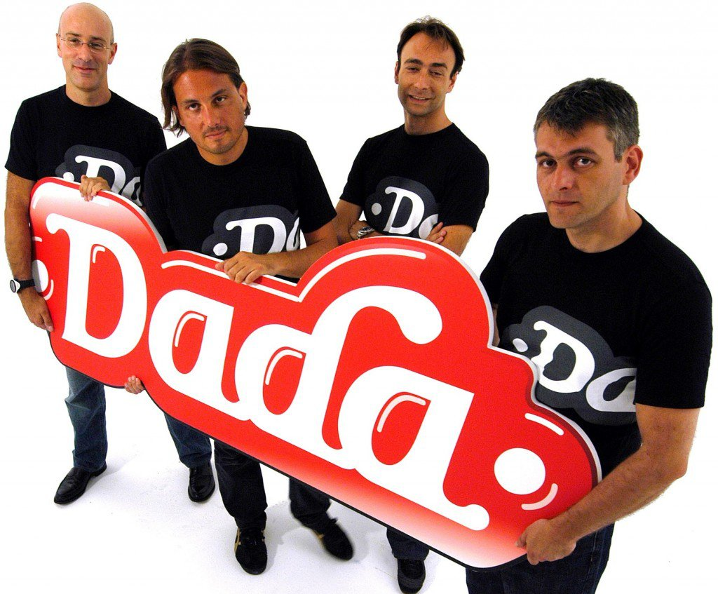 I founders di Dada. Da sinsitra: Jacopo Marello, Paolo Barberis, Alessandro Sordi e Angelo Falchetti