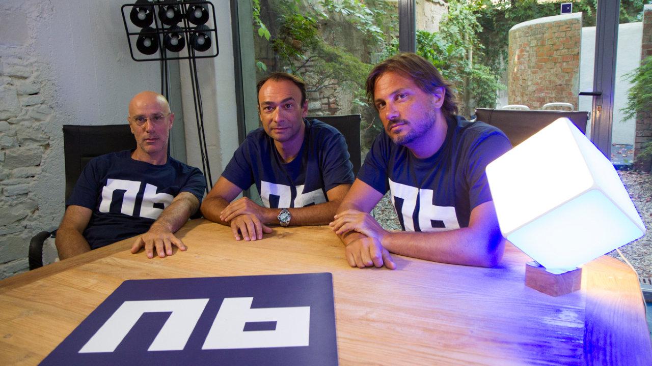 Tre dei quattro founders di Dada sono oggi alla guida di Nana Bianca. Da sinistra: Jacopo Marello, Alessandro Sordi e Paolo Barberis