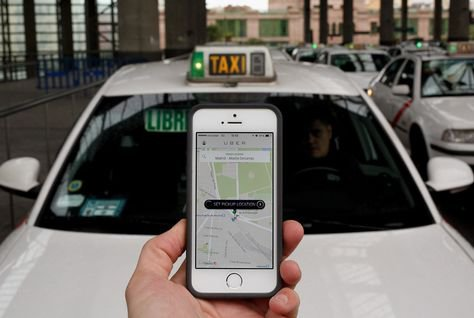 5++Uber+taxi+app+in+Madrid