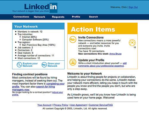 linkedin nel 2003