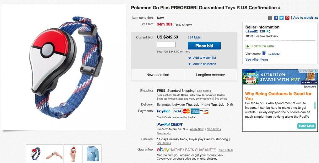 Vale 30 euro, ma su eBay schizza a 200. Il caso del braccialetto cattura Pokémon