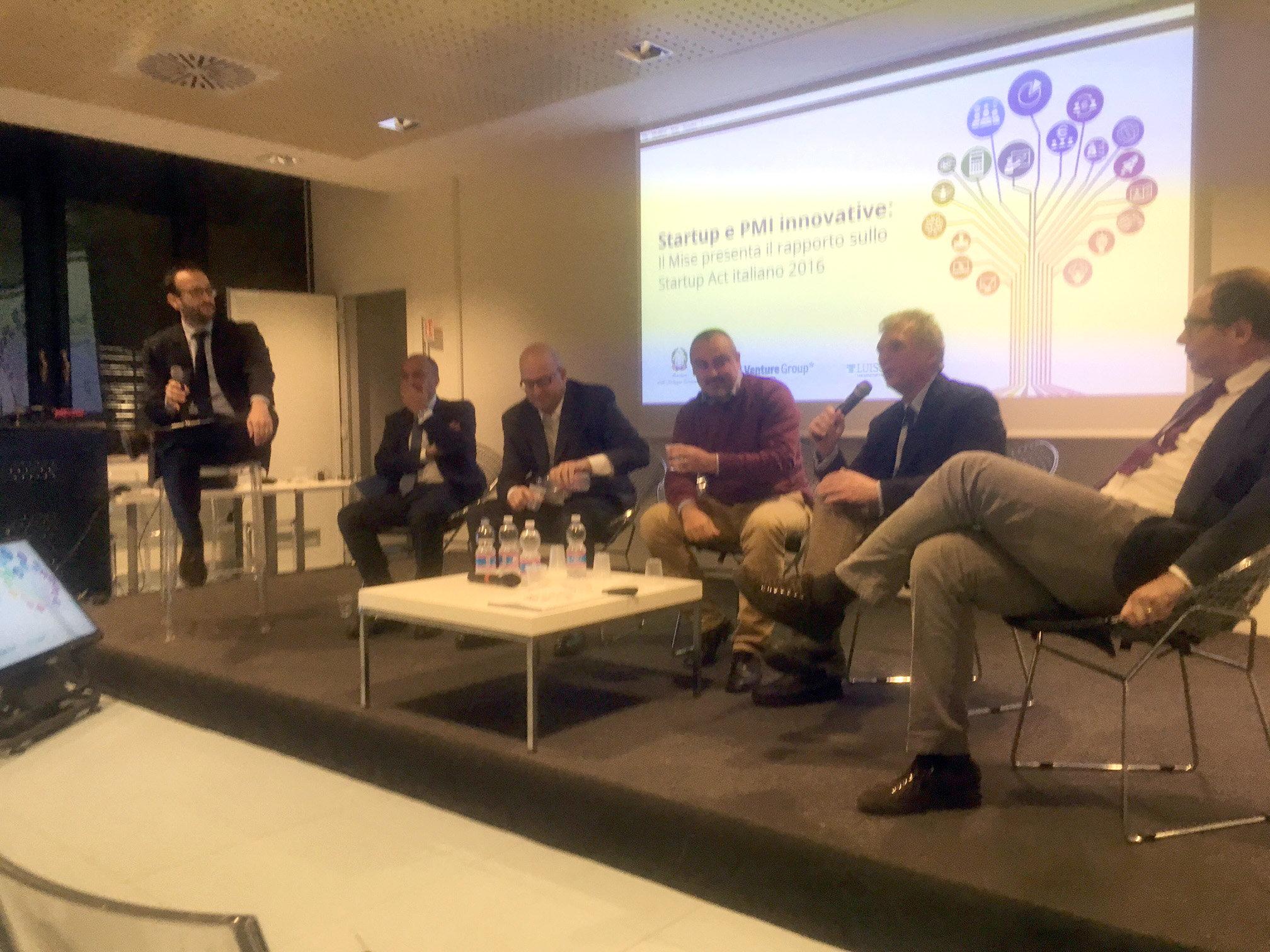 Nella foto, da sinistra: Claudio Cerasa, Carlo Mammola, Ernesto Ciorra, Marco Trombetti, Salvo Mizzi, Stefano Firpo