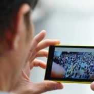 mobile video man watching