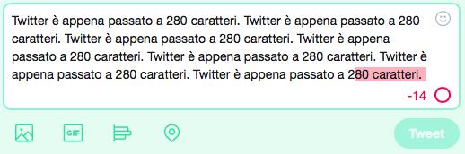 Twitter passa a 280 caratteri