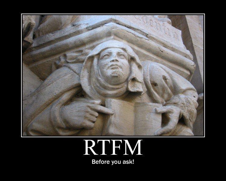 LowRes | Quel manuale che non fu letto: RTFM!