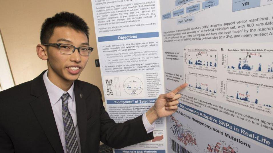"""Andrew Jin, 17 anni: """"Studiando le mutazioni del DNA sconfiggerò l'HIV e la meningite"""""""
