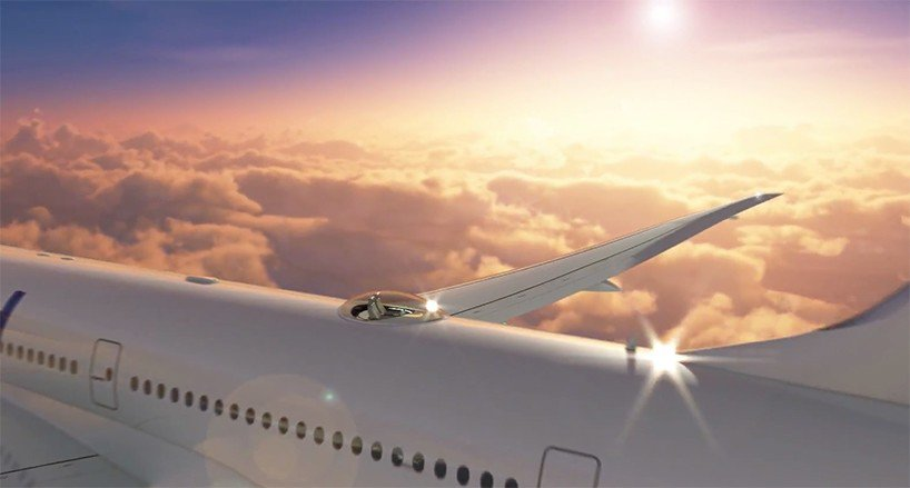 skydeck i sedili di lusso sul tetto dell 39 aereo ForGrandi Jet D Affari In Cabina