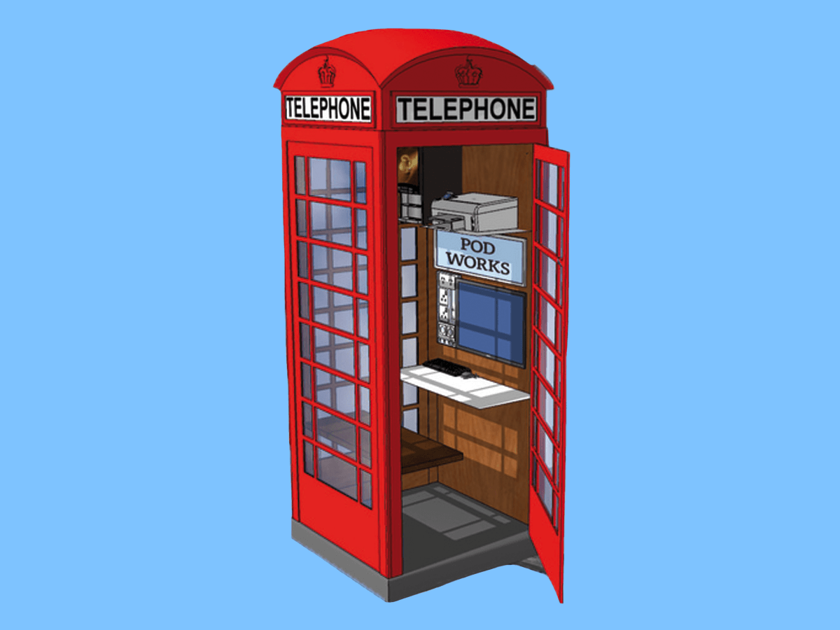 telephone booth 4x3