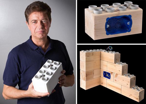 Lego giganti nati in italia per costruire delle case vere for Lego giganti arredamento