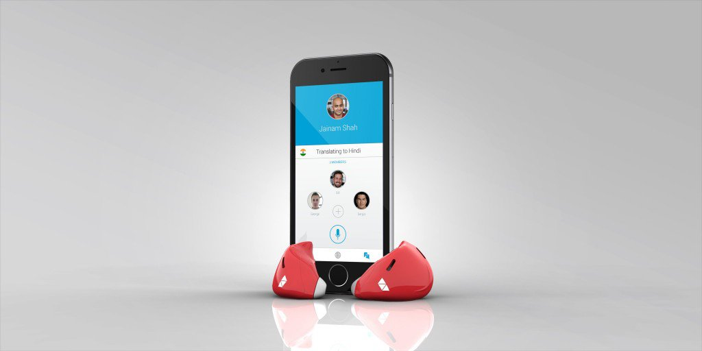 Earpieces and app - red