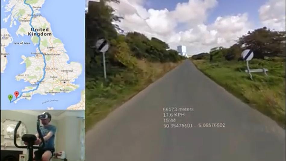 Aaron Puzey: «Così giro la Gran Bretagna con la cyclette di casa e la realtà virtuale»