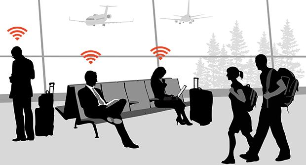 Questa mappa rivela le password dei wifi degli aeroporti di tutto il mondo