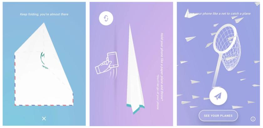 app, paper planes