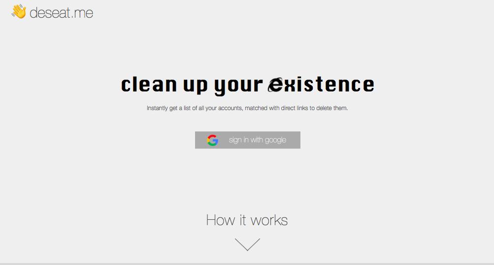 Deseat Me, il tool per cancellare le tracce che abbiamo lasciato sul web