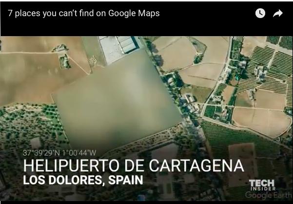 I 7 luoghi del mondo che non possono essere trovati su Google Map