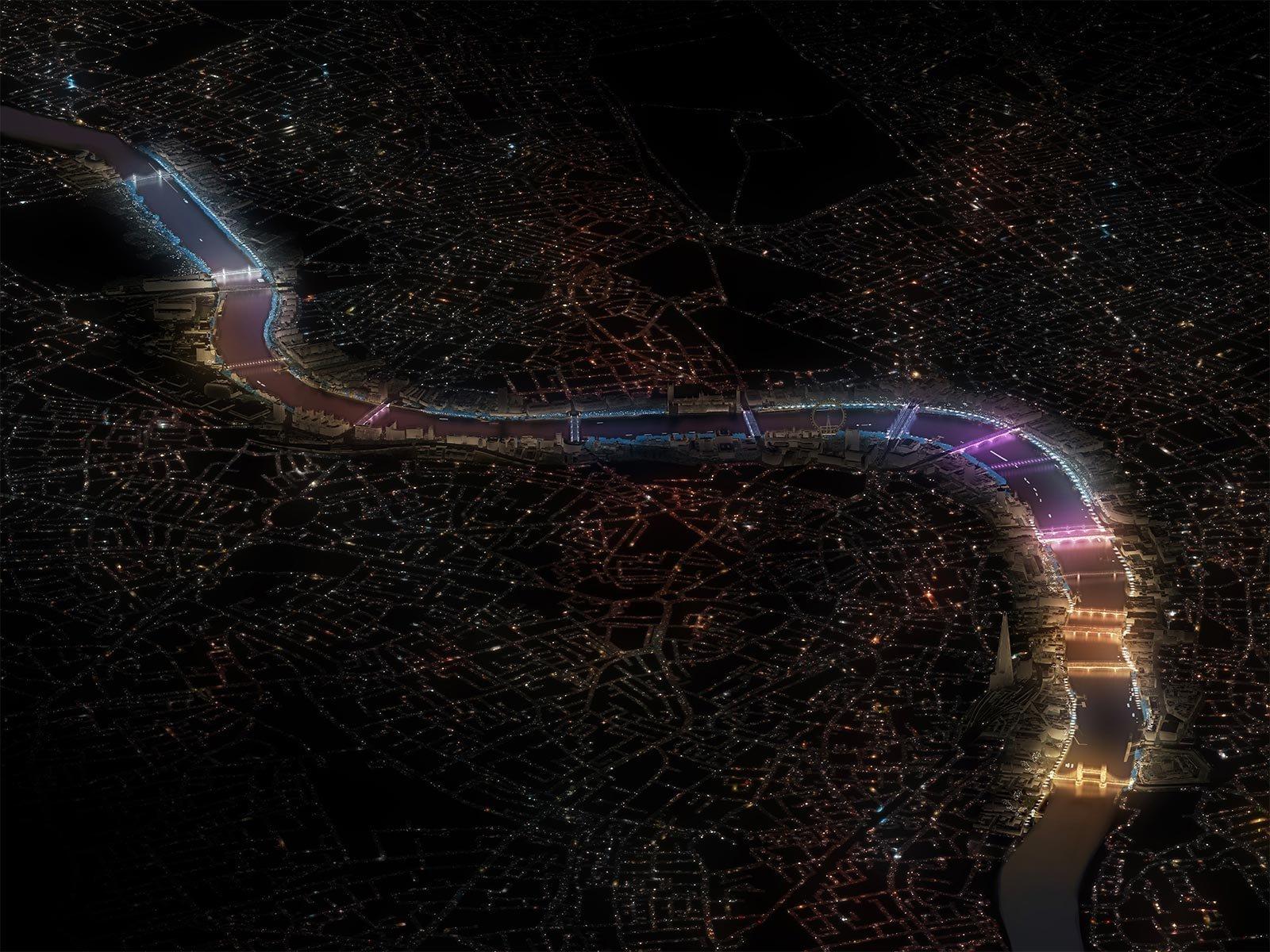 Current, il progetto che illuminerà 17 ponti di Londra