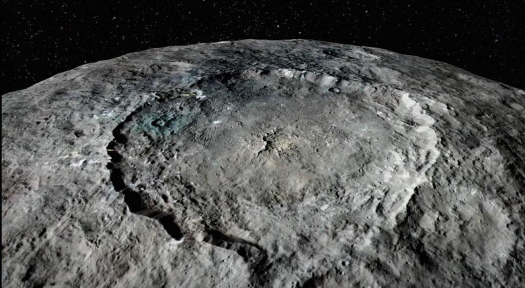 L'asteroide Cerere, fotografato dalla sonda Dawn