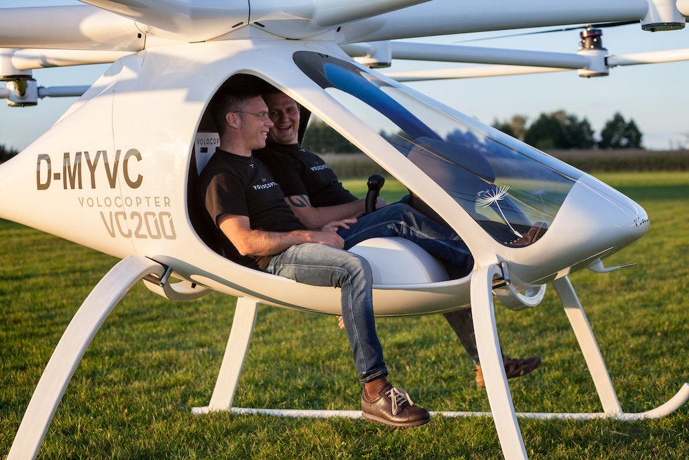 Una startup tedesca ha lanciato Volocopter, il taxi volante a emissioni zero