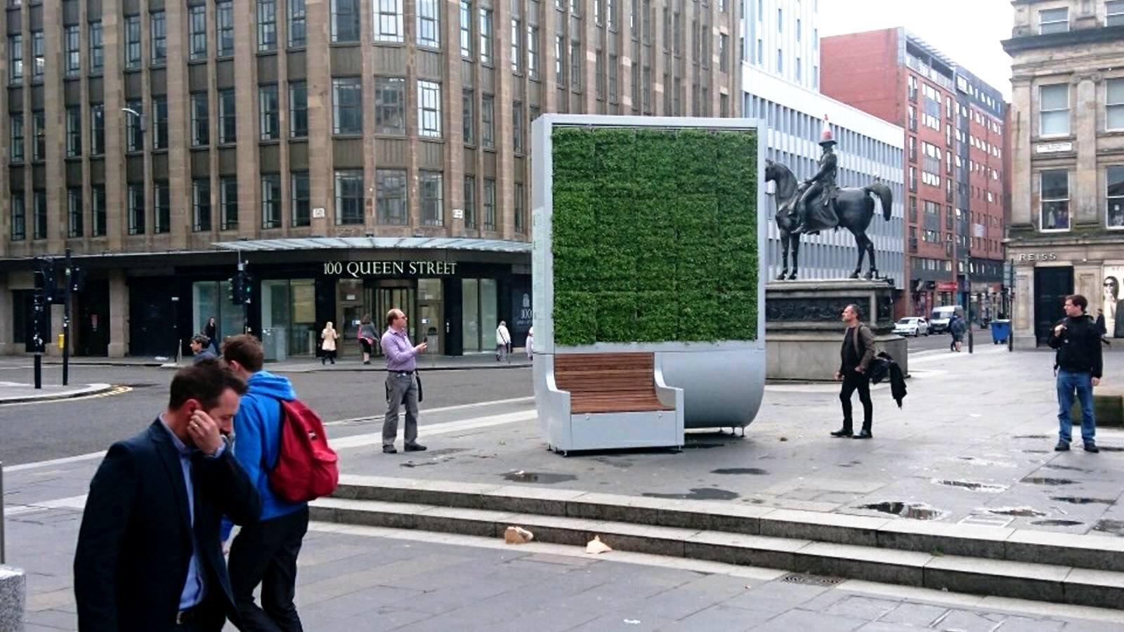 CityTree, la foresta verticale di 3,5 metri quadri che pulisce l'aria delle città