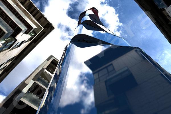 Smart e integrata nell'ambiente urbano. L'estetica innovativa della torre Dicecell