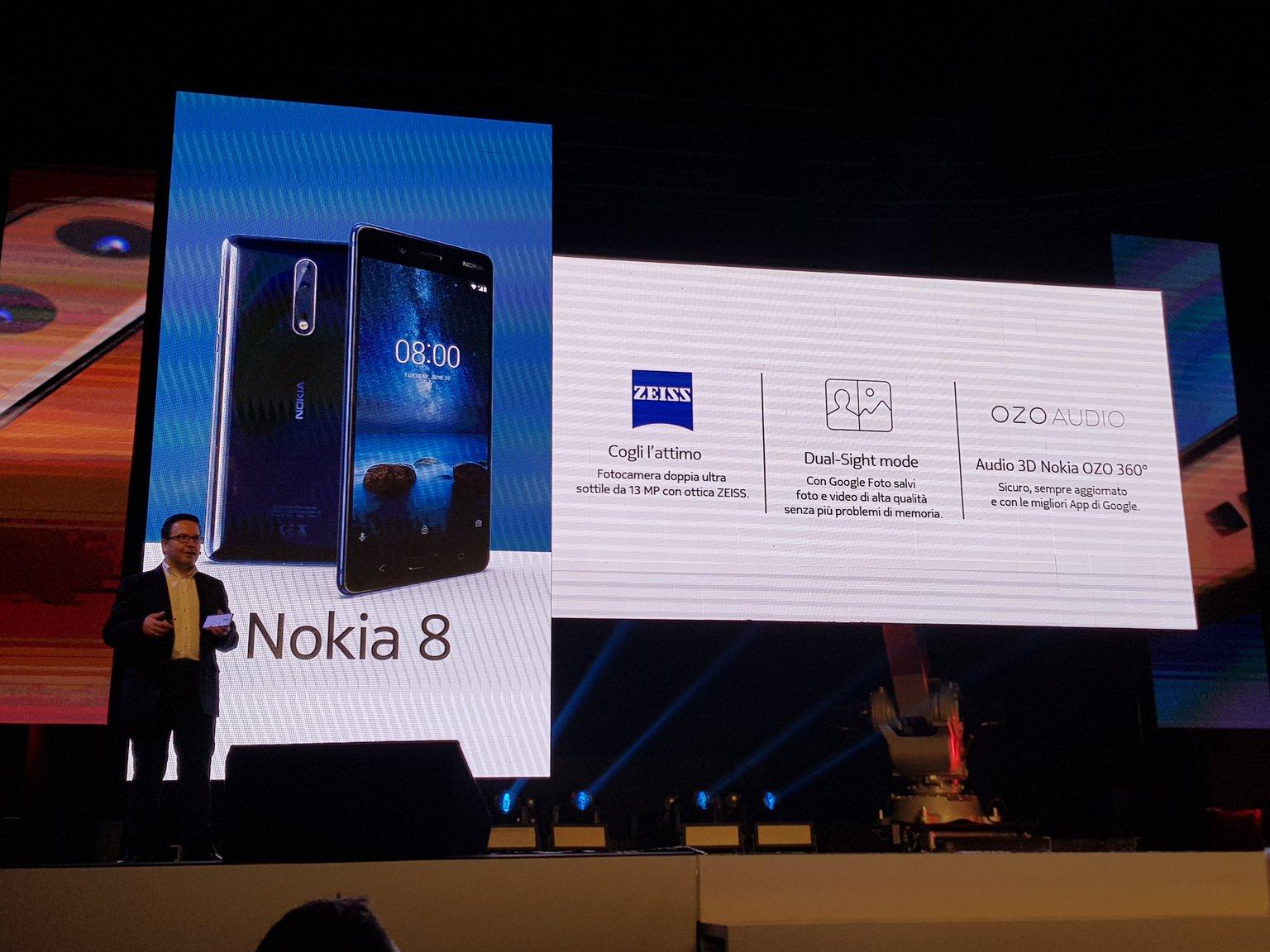Nokia 8, lo smartphone ammiraglia di HMD