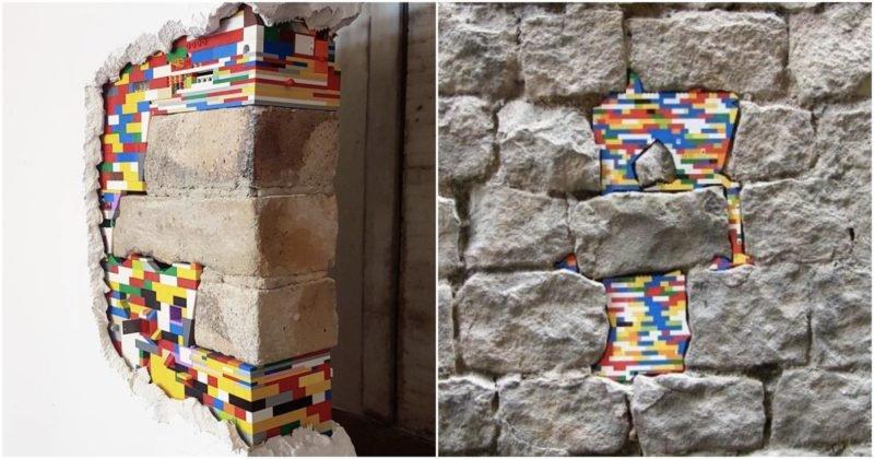 L'artista tedesco che ripara gli edifici con i mattoncini Lego