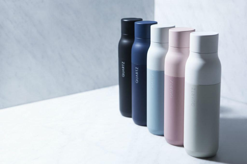quartz, la bottiglia che purifica l'acqua