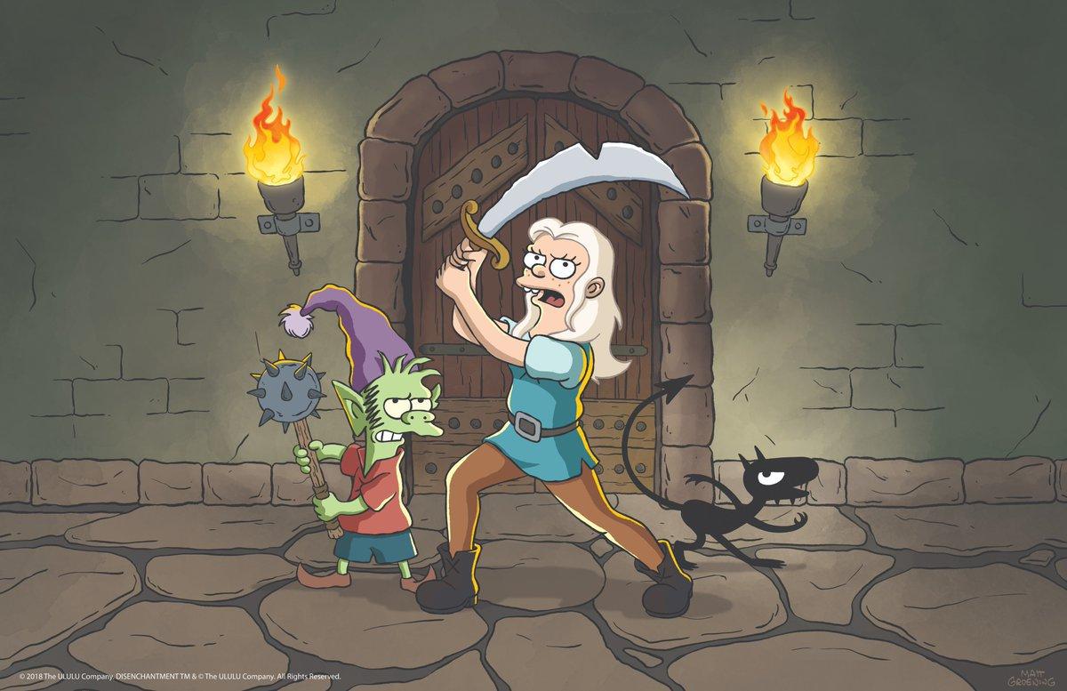 Disincanto, dal papà dei Simpson il nuovo cartone Netflix