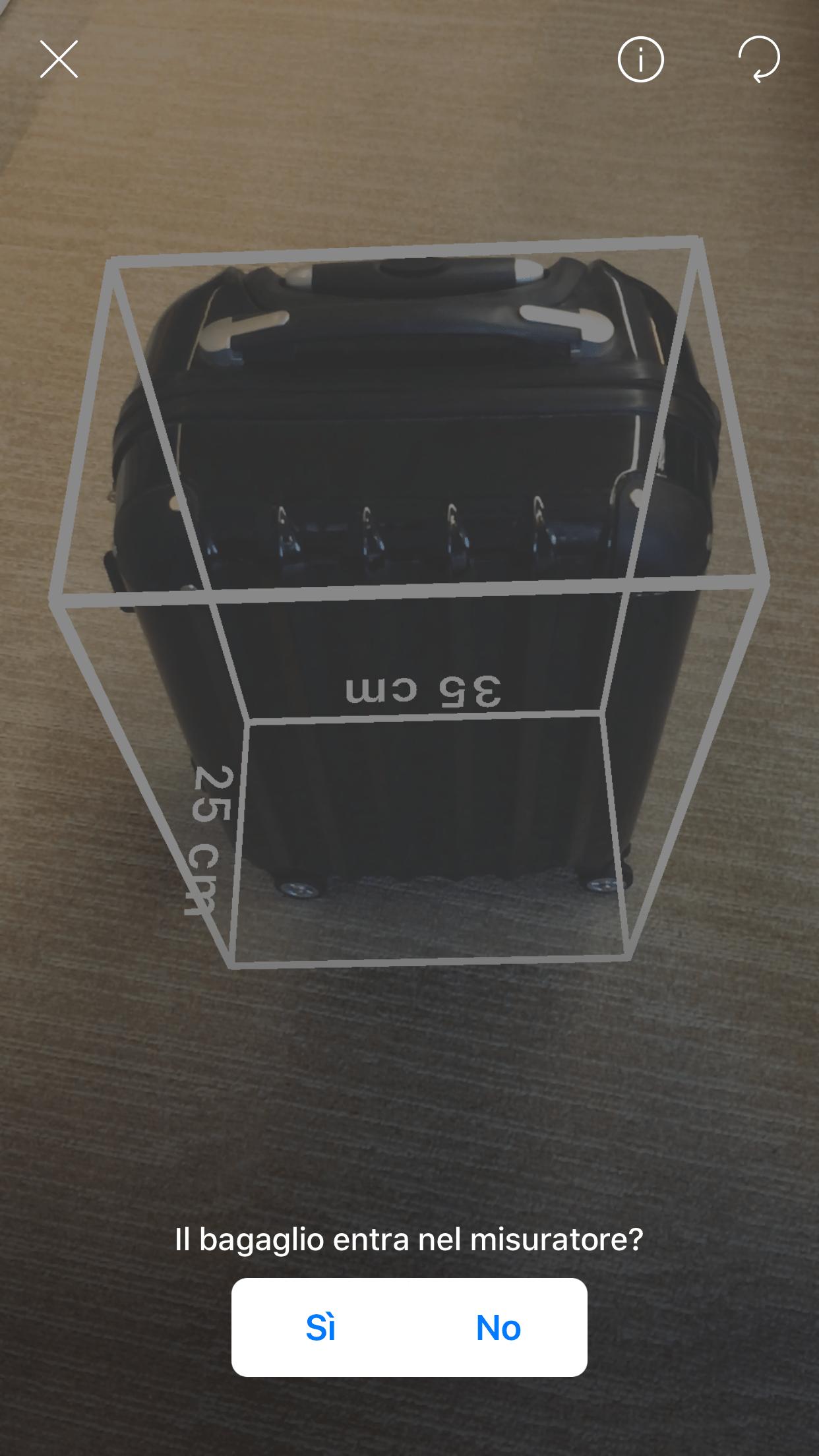 Il bagaglio a mano a posto ora lo controlli con un 39 app for Emirati limite di peso del bagaglio a mano