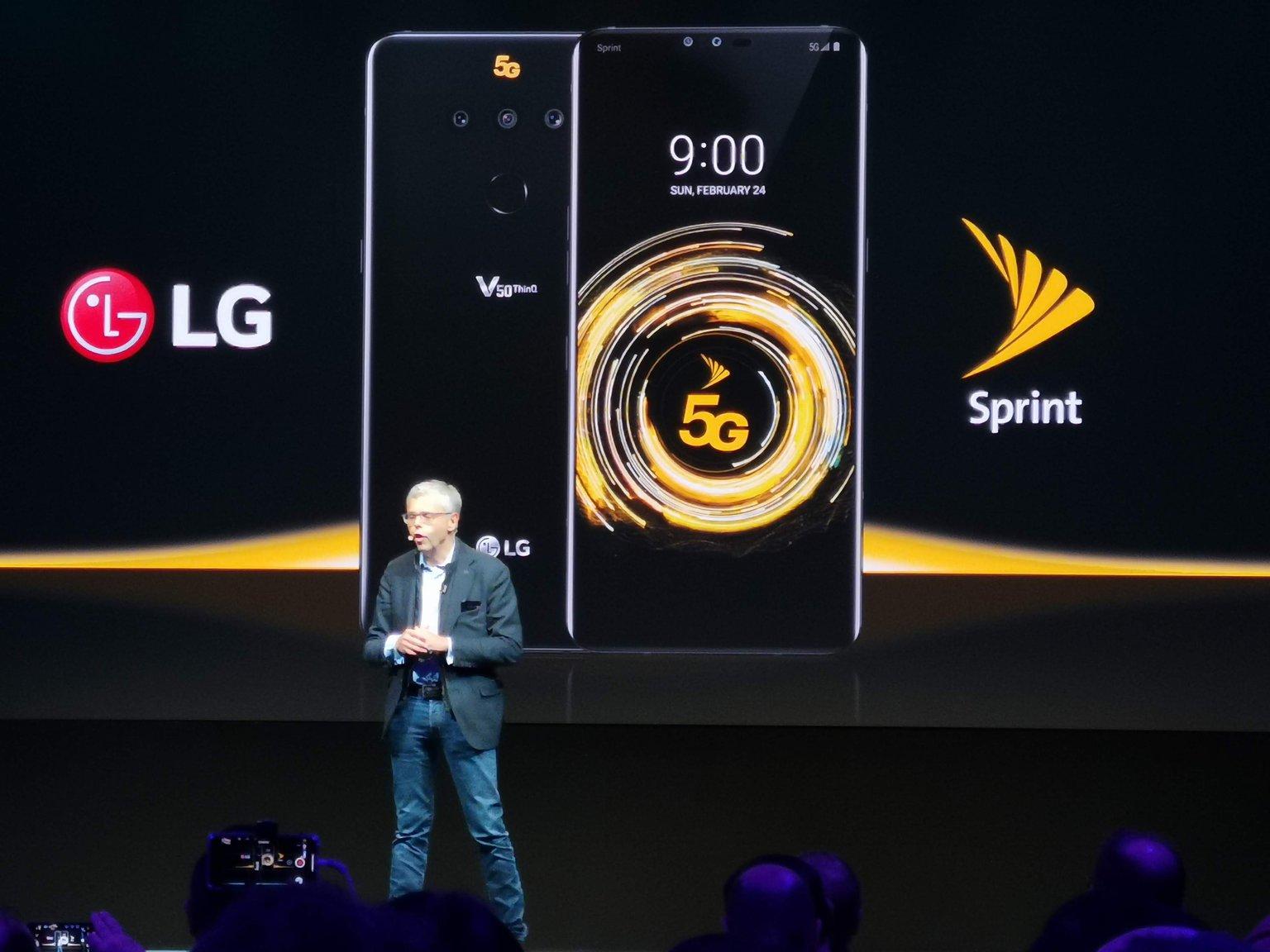 MWC19   LG cala il tris: V50, G8 e 5G