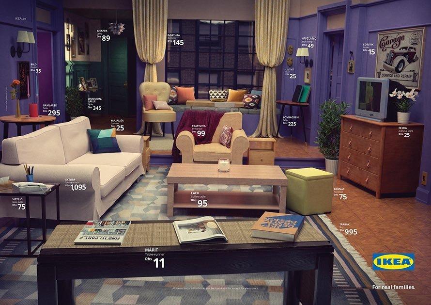 Ikea ha ricreato le stanze dei Simpsons, di Friends e di
