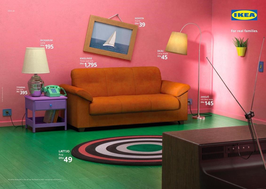 Due Piu Mobili.Ikea Ha Ricreato Le Stanze Dei Simpsons Di Friends E Di