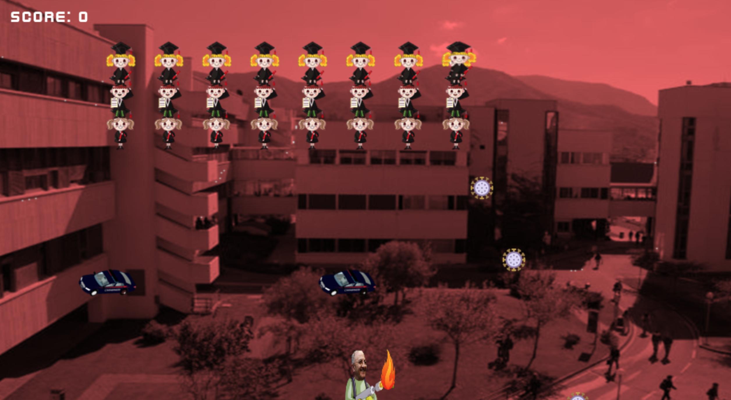 Coronavirus, De Luca diventa un videogioco. Lanciafiamme sui neolaureati