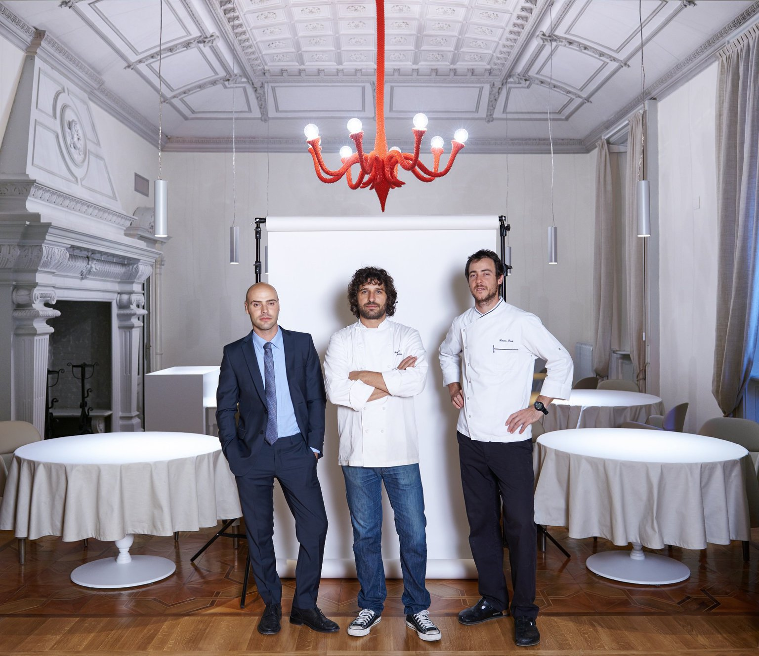 Contraste, lo staff:  (da sinistra) Thomas Piras, Matias Perdomo, Simon Press