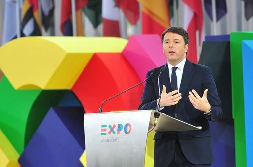 Il premier Matteo Renzi a Expo
