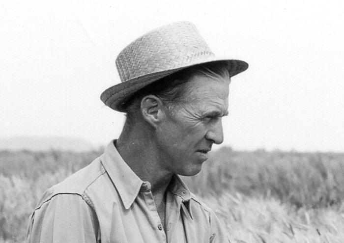 """Norman Borlaug, """"padre"""" della Rivoluzione Verde, nel 1970, anno in cui rivevette il Nobel per la Pace"""