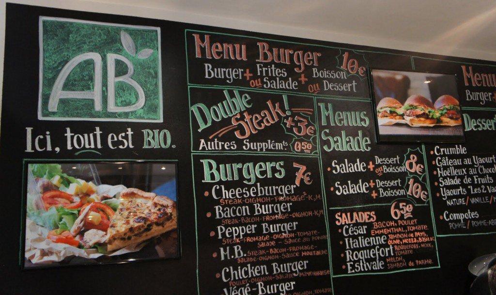 Bio-burger-menu