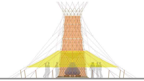 La struttura del Warka Water