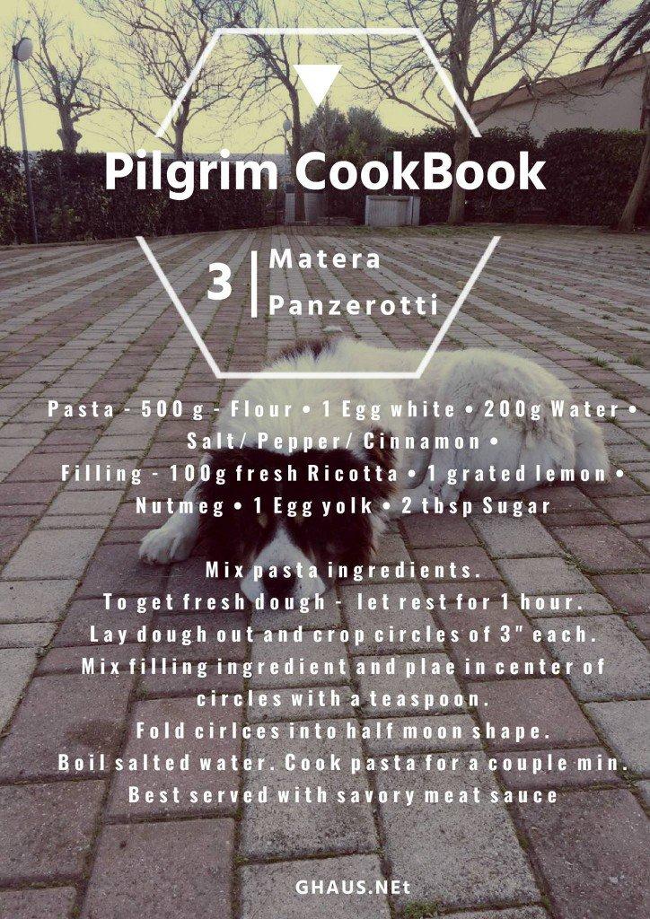 The Pilgrim Cookbook GHaus Panzerotti