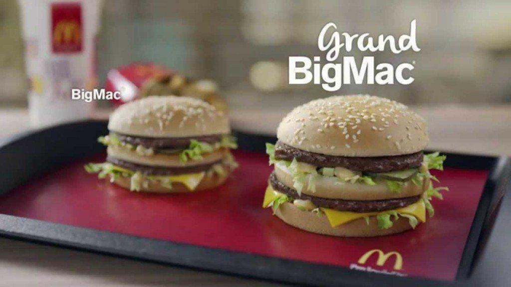 Il Grand Big Mac e il Big Mac a confronto