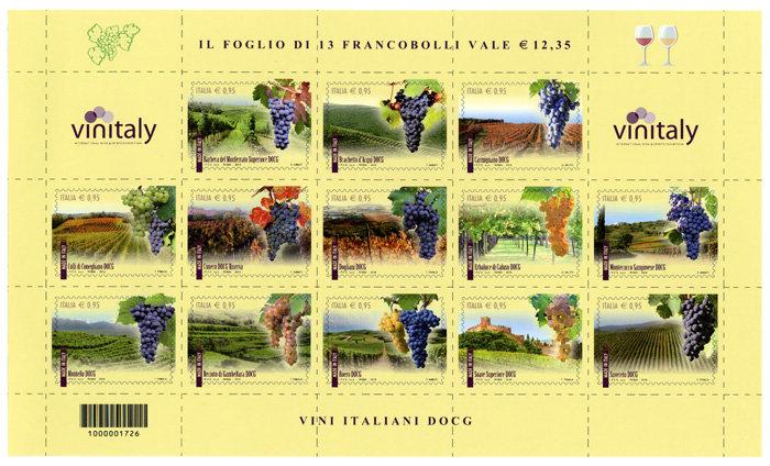 I francobolli per il vino