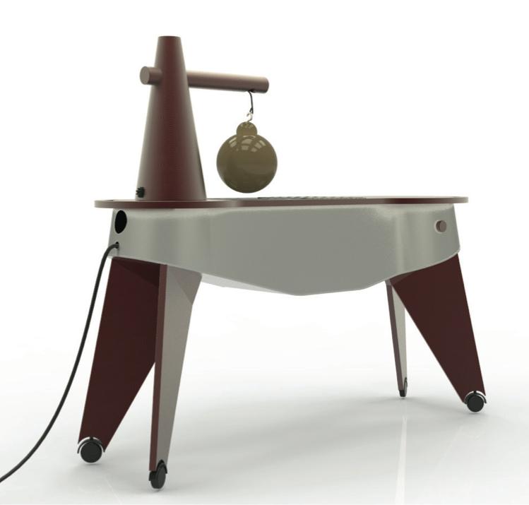 Il carello-cucina per preparare il caciocavallo impiccato nei ristoranti