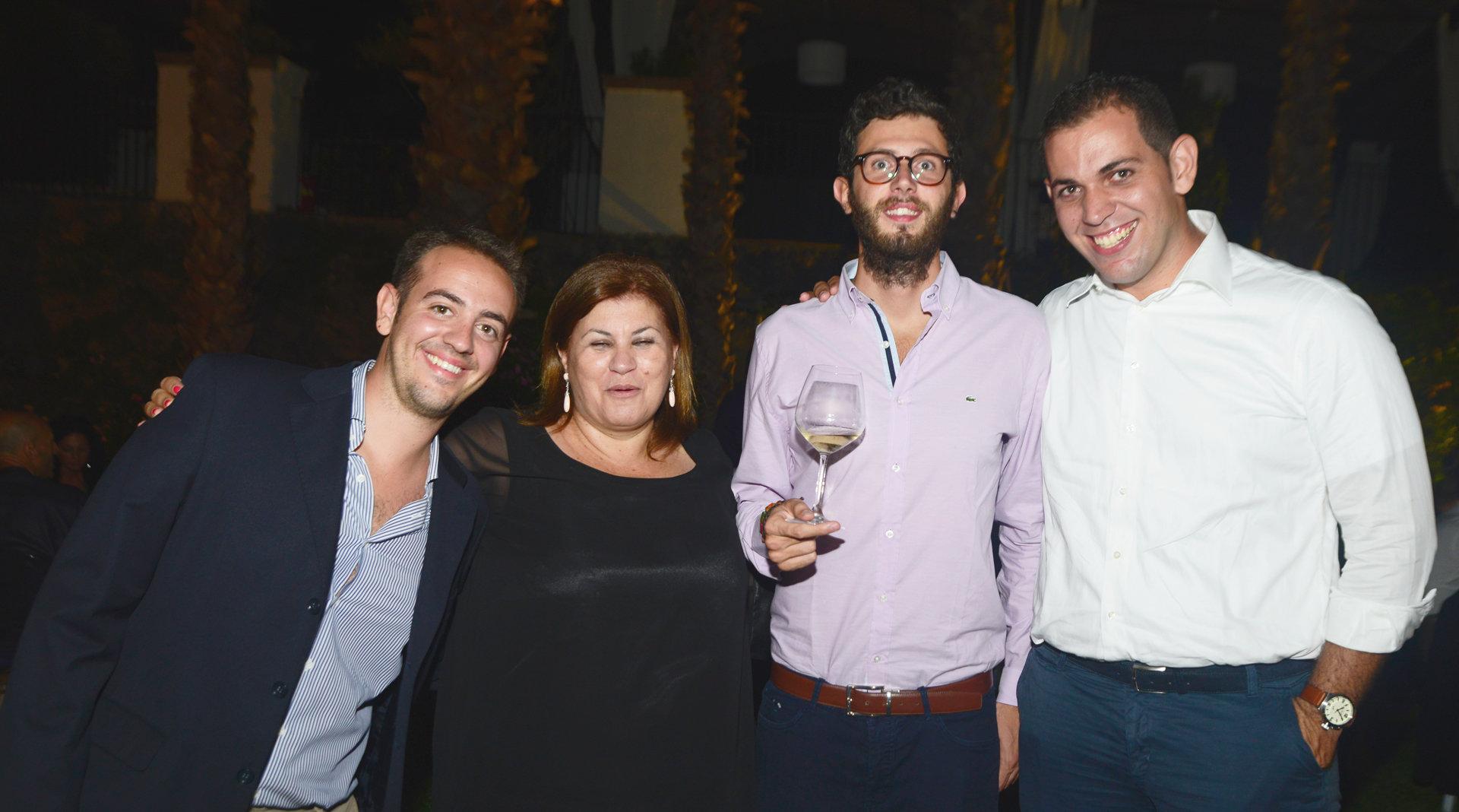Il team di Terra Siciliae: Sebastiano Piazza, Anna Quartarone, Emanuele Palumbo, Francesco La Giglia