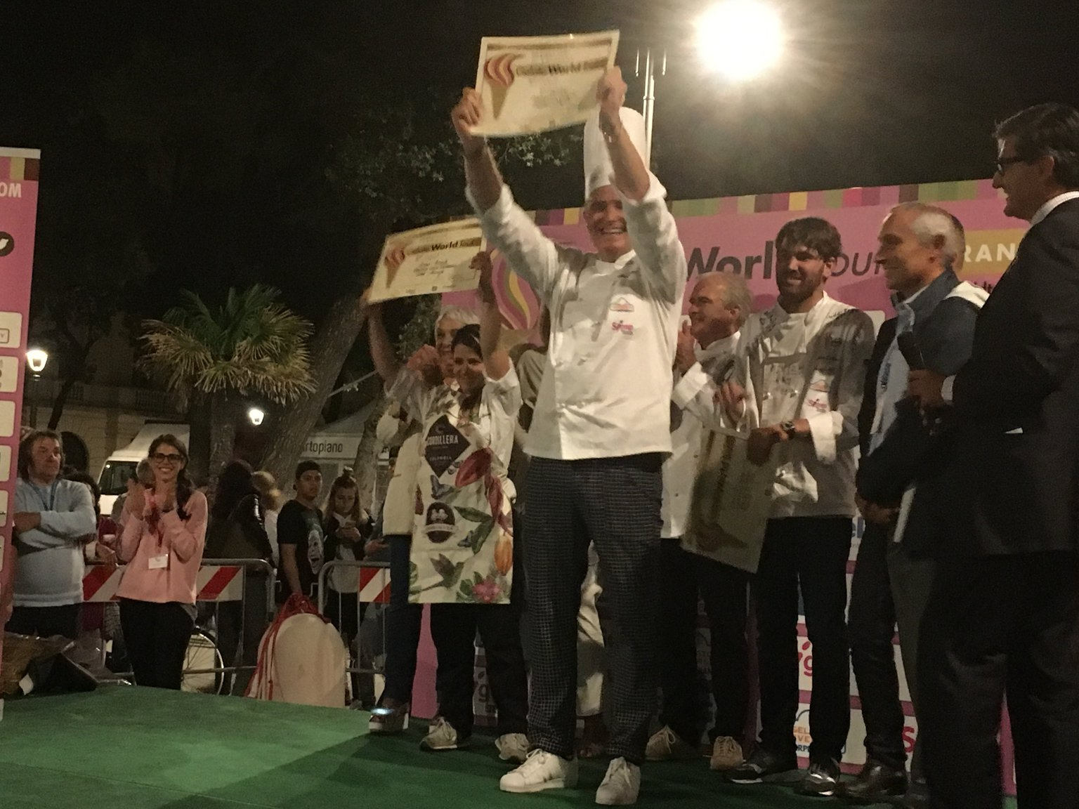 Gelato World Tour - Crispini durante la premiazione