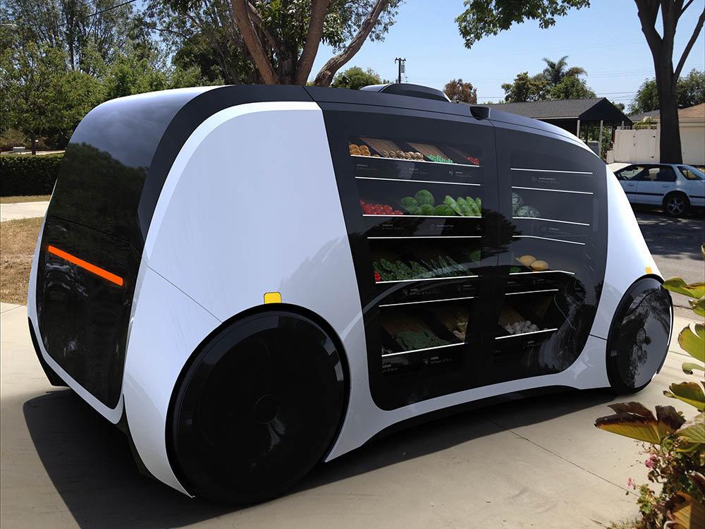 Anche i piccoli negozi potranno consegnare cibo fresco con un robot, Robomart