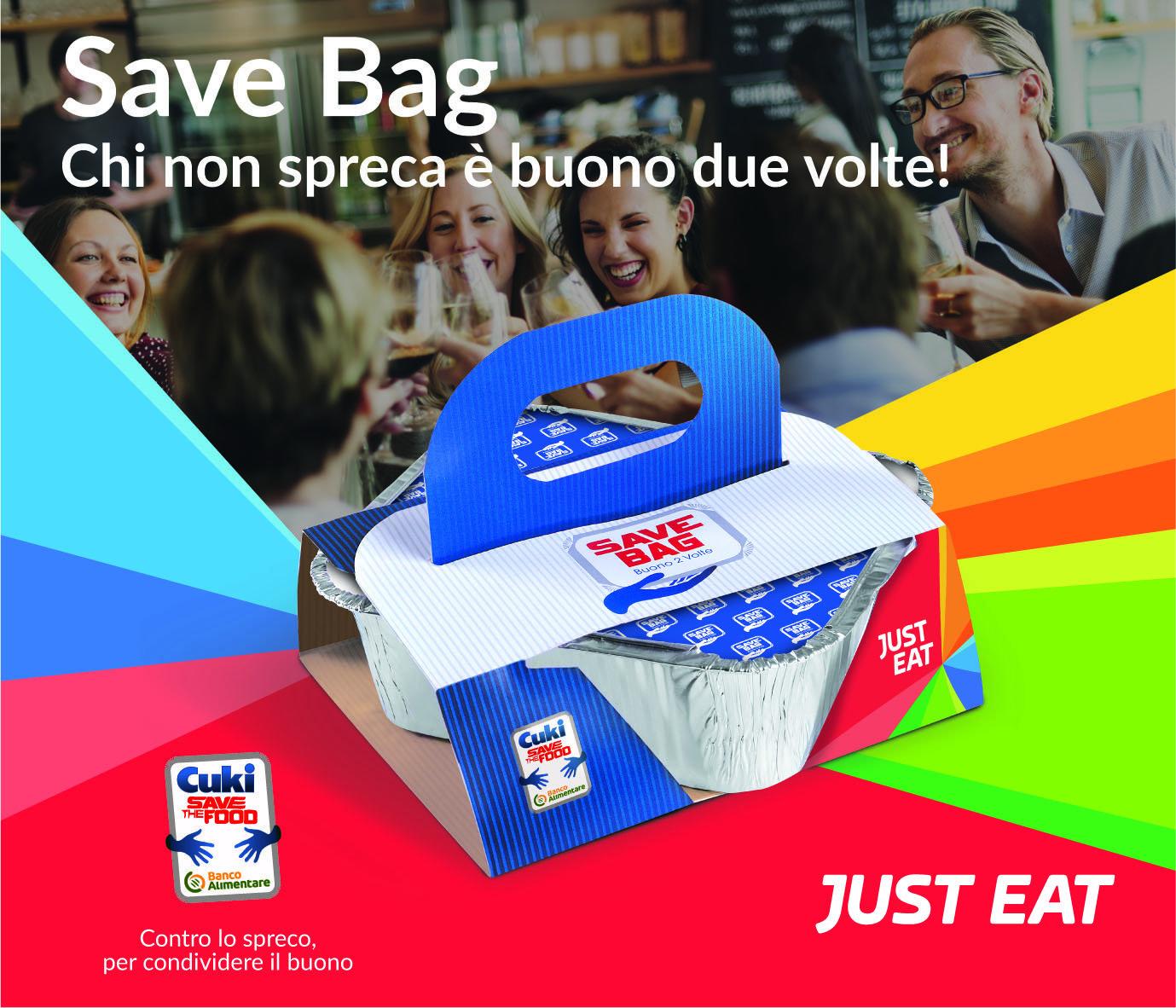 just eat lancia la save bag: doni un pasto e guadagni uno sconto