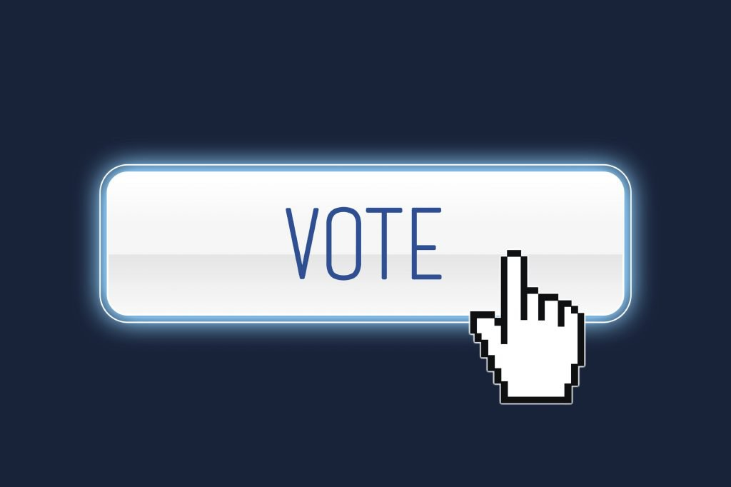 Vote button with hand cursor