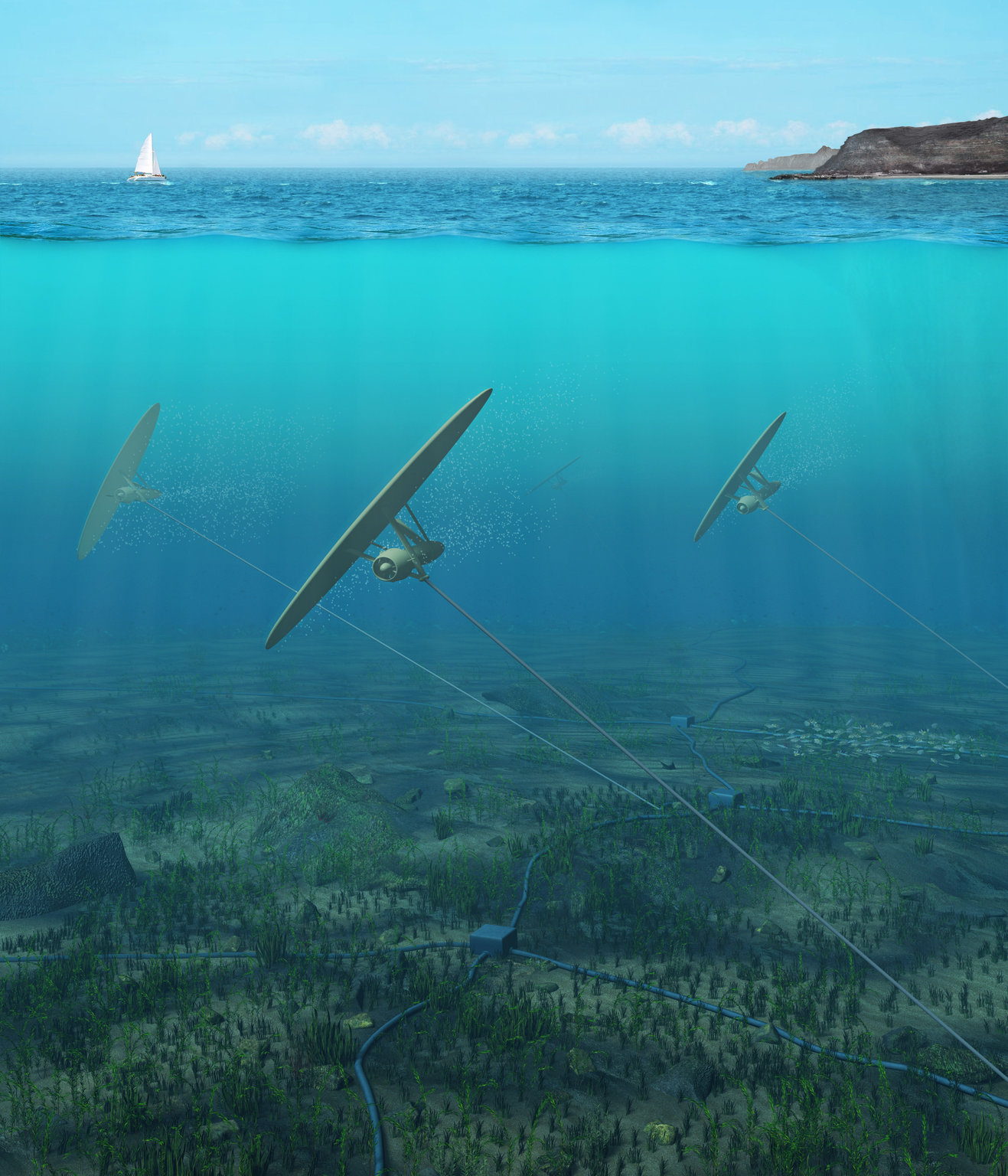 Aquiloni sottomarini per produrre energia sfruttando la Luna